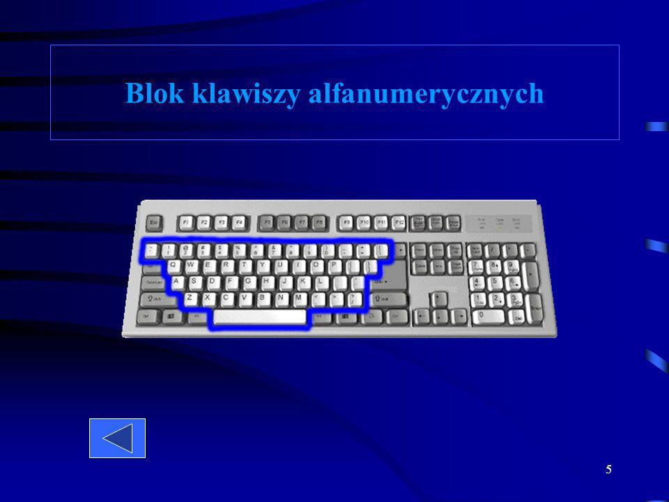5 Blok klawiszy alfanumerycznych
