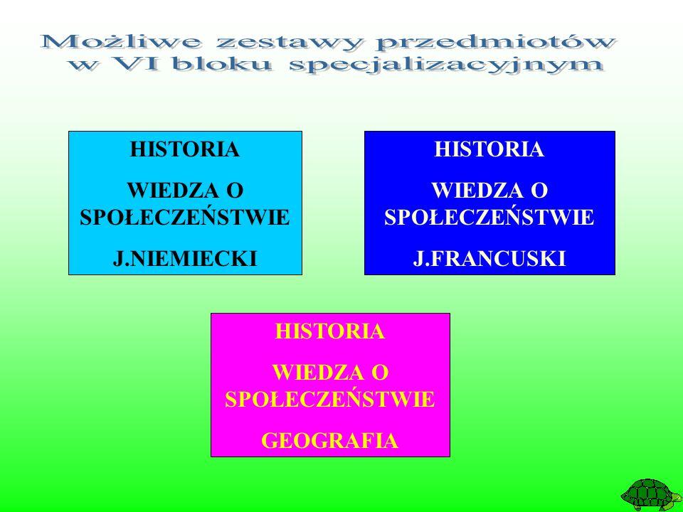 HISTORIA WIEDZA O SPOŁECZEŃSTWIE J.FRANCUSKI HISTORIA WIEDZA O SPOŁECZEŃSTWIE J.NIEMIECKI HISTORIA WIEDZA O SPOŁECZEŃSTWIE GEOGRAFIA