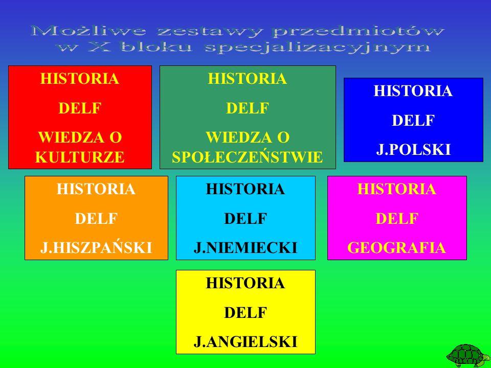 HISTORIA DELF WIEDZA O KULTURZE HISTORIA DELF J.ANGIELSKI HISTORIA DELF J.POLSKI HISTORIA DELF J.HISZPAŃSKI HISTORIA DELF J.NIEMIECKI HISTORIA DELF GEOGRAFIA HISTORIA DELF WIEDZA O SPOŁECZEŃSTWIE