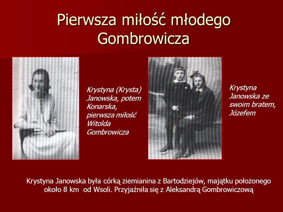 Pierwsza miłość młodego Gombrowicza Krystyna (Krysta) Janowska, potem Konarska, pierwsza miłość Witolda Gombrowicza Krystyna Janowska ze swoim bratem,