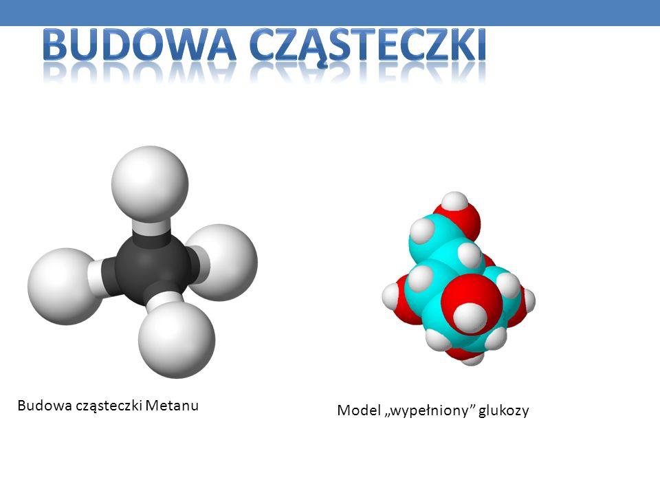 Budowa cząsteczki Metanu Model wypełniony glukozy