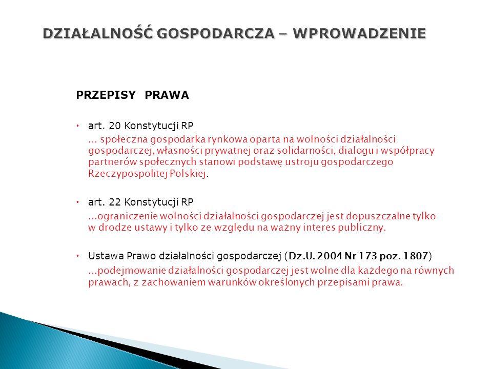 PRZEPISY PRAWA art.20 Konstytucji RP...