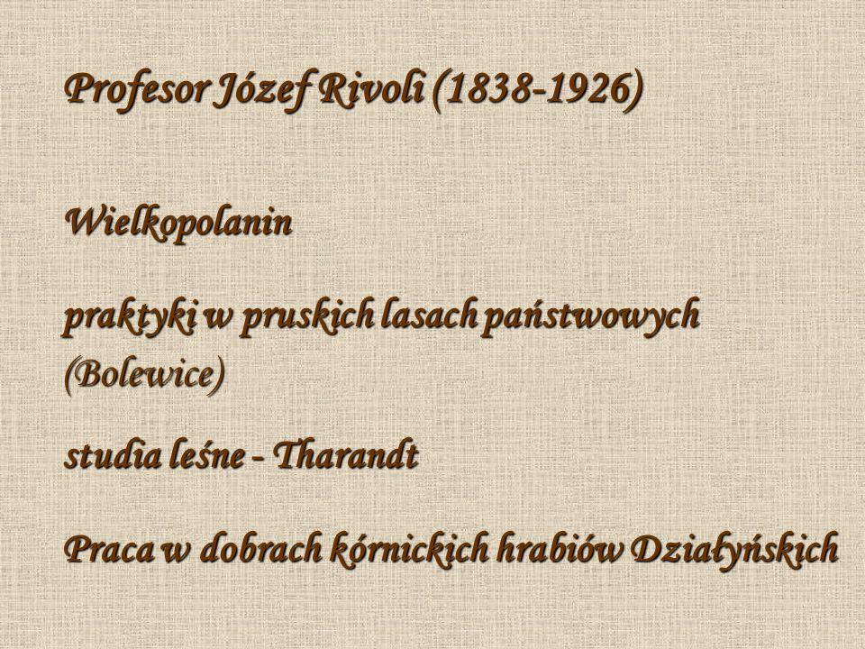 Wykładowca i dydaktyk Od 1873 do 1875 r.Józef Rivoli wykładał w Wyższej Szkole Rolniczej im.