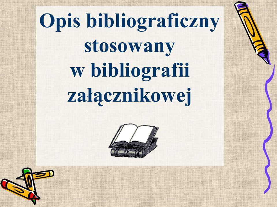 OPISY BIBLIOGRAFICZNE DOKUMENTÓW ELEKTRONICZNYCH