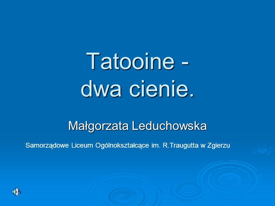 Tatooine - dwa cienie. Małgorzata Leduchowska Samorządowe Liceum Ogólnokształcące im. R.Traugutta w Zgierzu