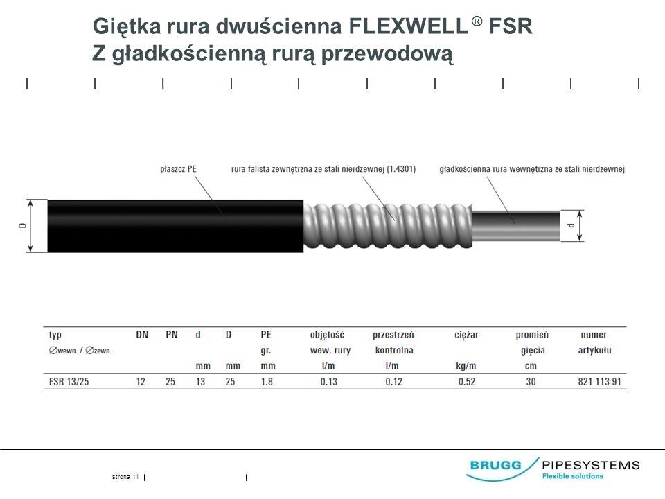 Giętka rura dwuścienna FLEXWELL ® FSR Z gładkościenną rurą przewodową strona 11