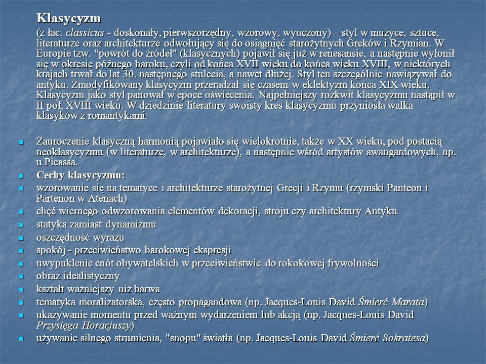 Klasycyzm (z łac. classicus - doskonały, pierwszorzędny, wzorowy, wyuczony) – styl w muzyce, sztuce, literaturze oraz architekturze odwołujący się do
