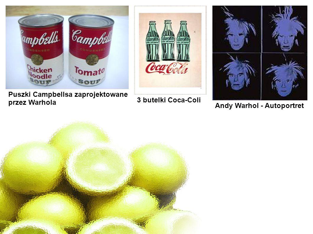 Puszki Campbellsa zaprojektowane przez Warhola Andy Warhol - Autoportret 3 butelki Coca-Coli