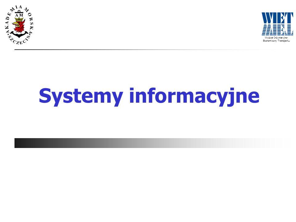 Wydział Inżynieryjno- Ekonomiczny Transportu Systemy informacyjne