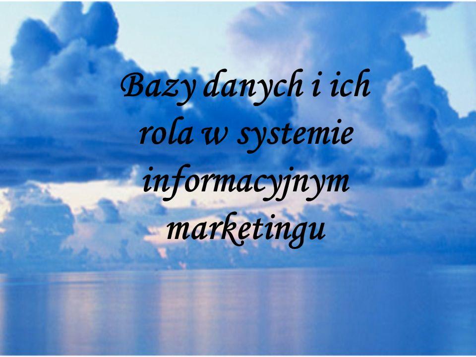 Bazy danych i ich rola w systemie informacyjnym marketingu