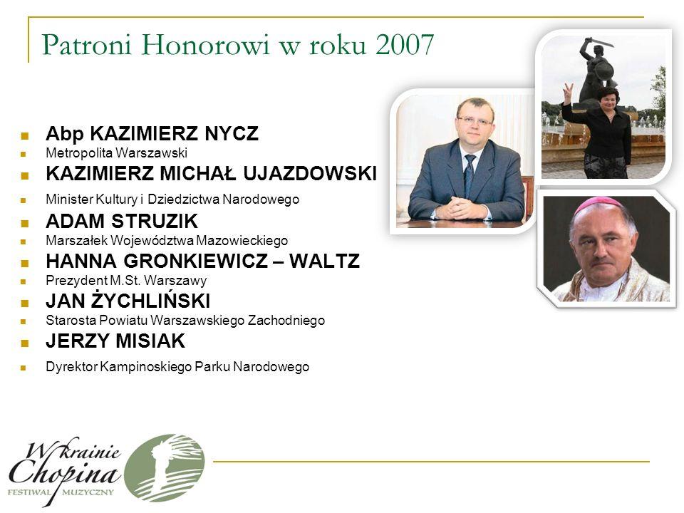 Festiwal po raz czwarty w Polsce Strona internetowa festiwalu - http://www.chopinfestiwal.wilkomirski.org.pl/ Miejsca – Powiat Warszawski Zachodni: sale koncertowe, zabytkowe kościoły i dworki, oraz na wolnym powietrzu m.in.