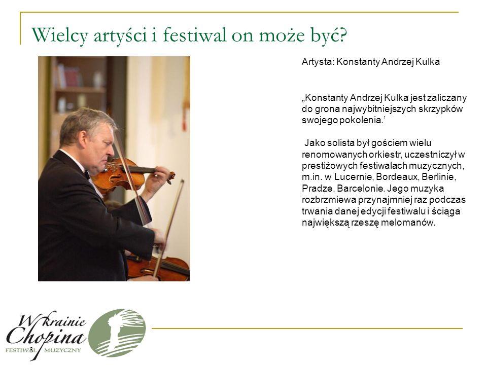 Formy reklamowe festiwalu Festiwal będzie promowany poprzez media docierając do ludzi interesujących się kulturą i sztuką.