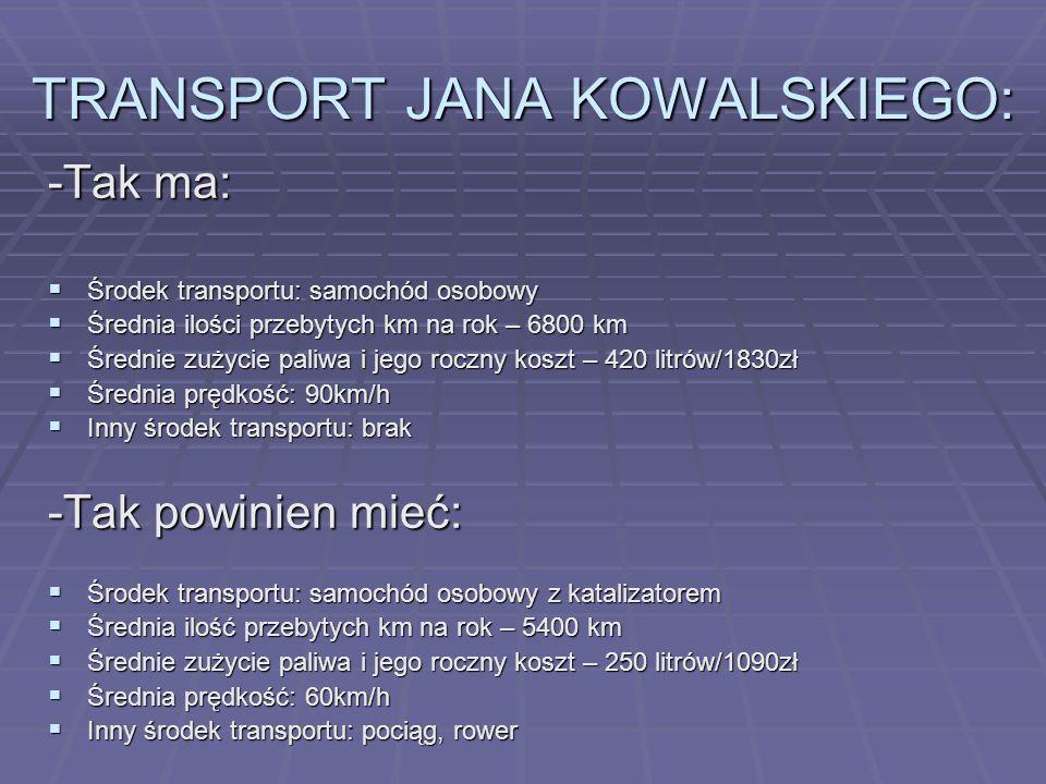 OBECNY STAN W POLSCE – NOWE SPOJRZENIE NA TRANSPORT Tendencje XXI wieku w transporcie można scharakteryzować następująco: Dynamiczny przyrost liczby s