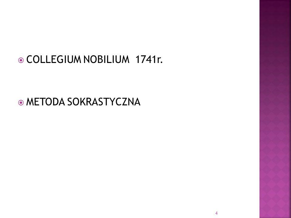 COLLEGIUM NOBILIUM 1741r. METODA SOKRASTYCZNA 4