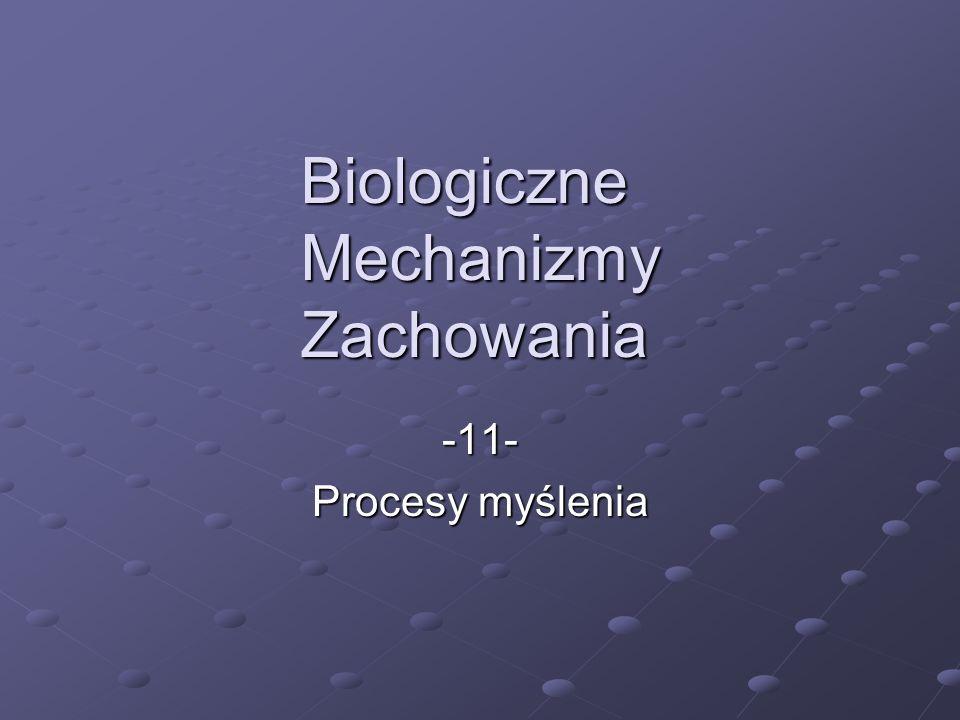 Biologiczne Mechanizmy Zachowania -11- Procesy myślenia