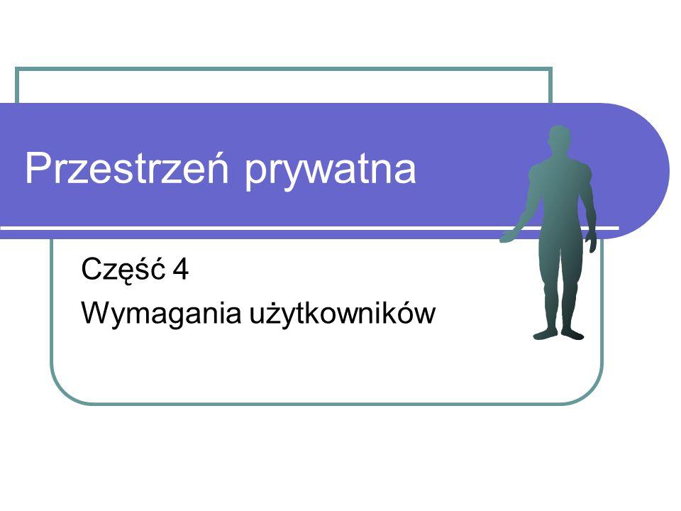 Przestrzeń prywatna Część 4 Wymagania użytkowników