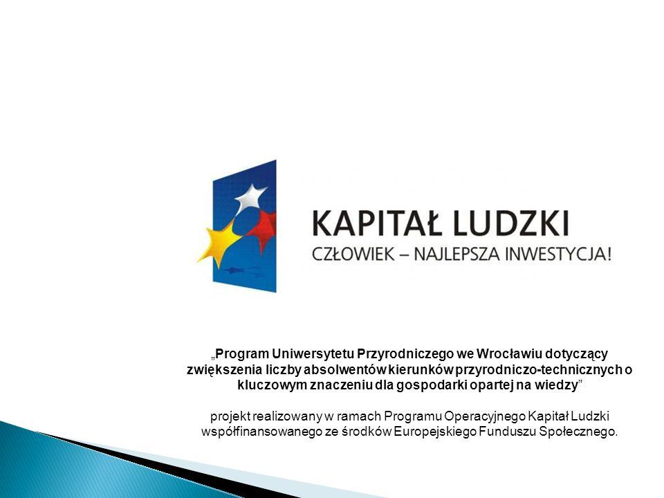 Program Uniwersytetu Przyrodniczego we Wrocławiu dotyczący zwiększenia liczby absolwentów kierunków przyrodniczo-technicznych o kluczowym znaczeniu dl