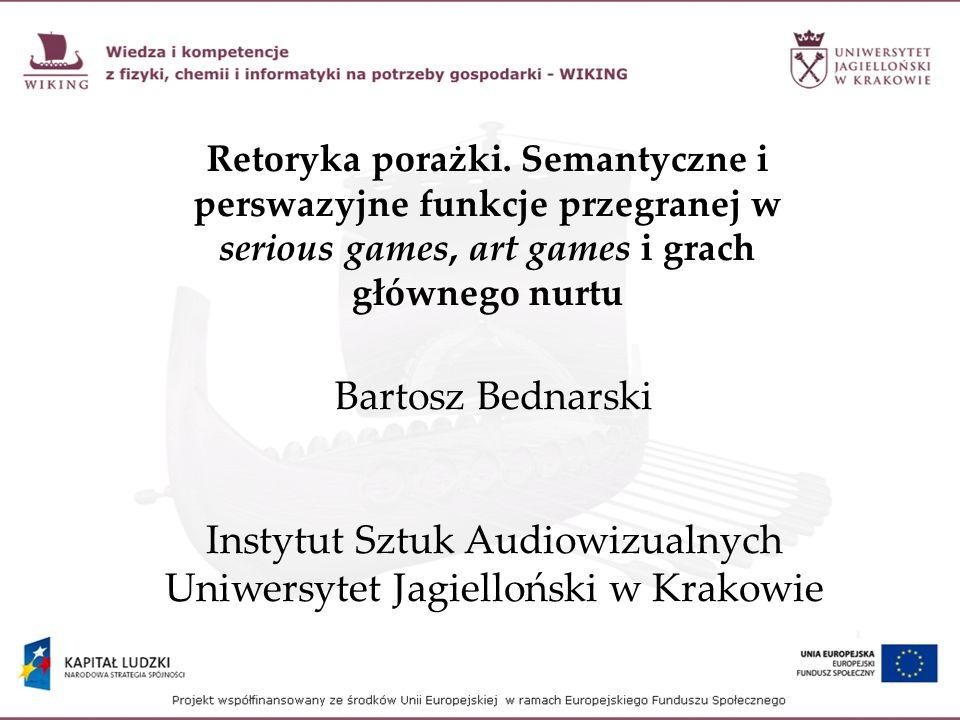 Proceduralna retoryka jako metoda badania gier (Ian Bogost) Proceduralna reprezentacja tłumaczy procesy za pomocą innych procesów.