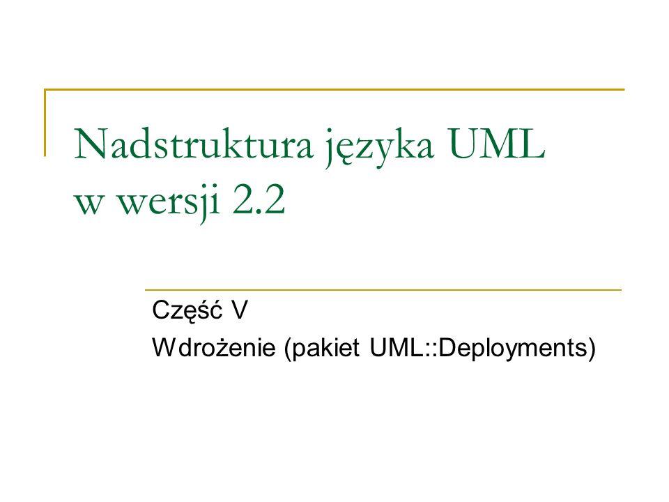 Nadstruktura języka UML w wersji 2.2 Część V Wdrożenie (pakiet UML::Deployments)