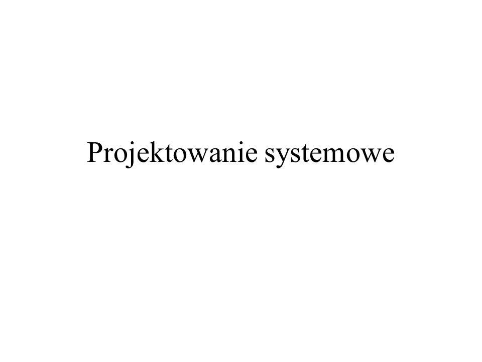 Dokumentacja projektowania systemowego Dokument projektowania systemowego (System Design Document)