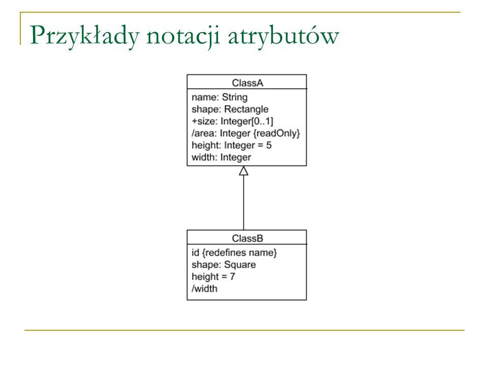 Przykłady notacji atrybutów
