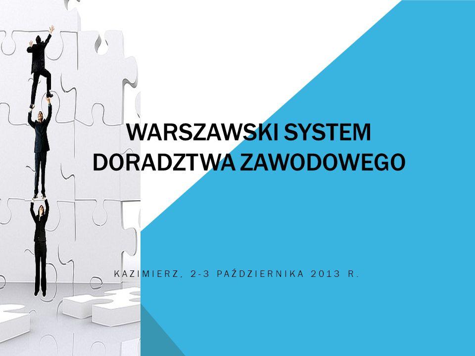 WARSZAWSKI SYSTEM DORADZTWA ZAWODOWEGO KAZIMIERZ, 2-3 PAŹDZIERNIKA 2013 R.