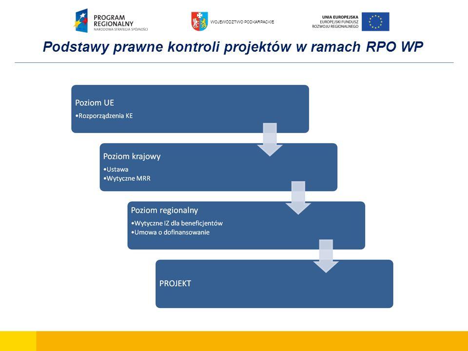 Podstawy prawne kontroli projektów w ramach RPO WP WOJEWÓDZTWO PODKARPACKIE