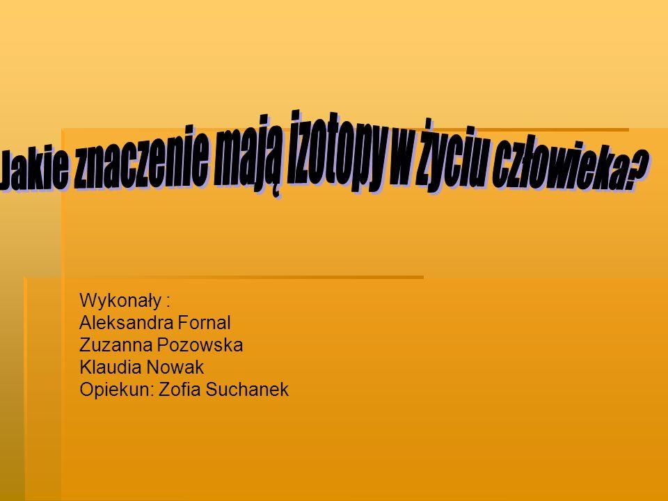 Wykonały : Aleksandra Fornal Zuzanna Pozowska Klaudia Nowak Opiekun: Zofia Suchanek