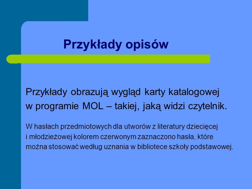 Literatura piękna Przykład 21- nowele Konopnicka, Maria Nowele / Maria Konopnicka Wrocław : Wydawnictwo Dolnośląskie, 2000.
