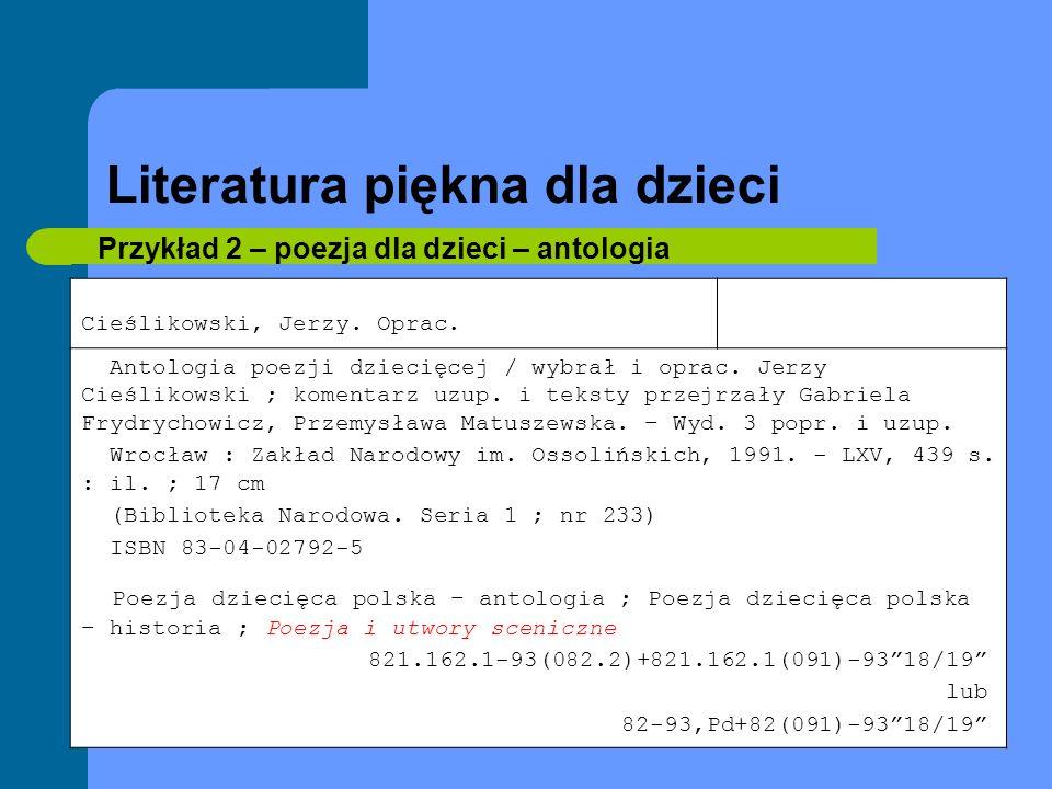 Literatura piękna dla młodzieży Przykład 13 - komiks Chmielewski, Henryk Jerzy Tytus, Romek i A Tomek.