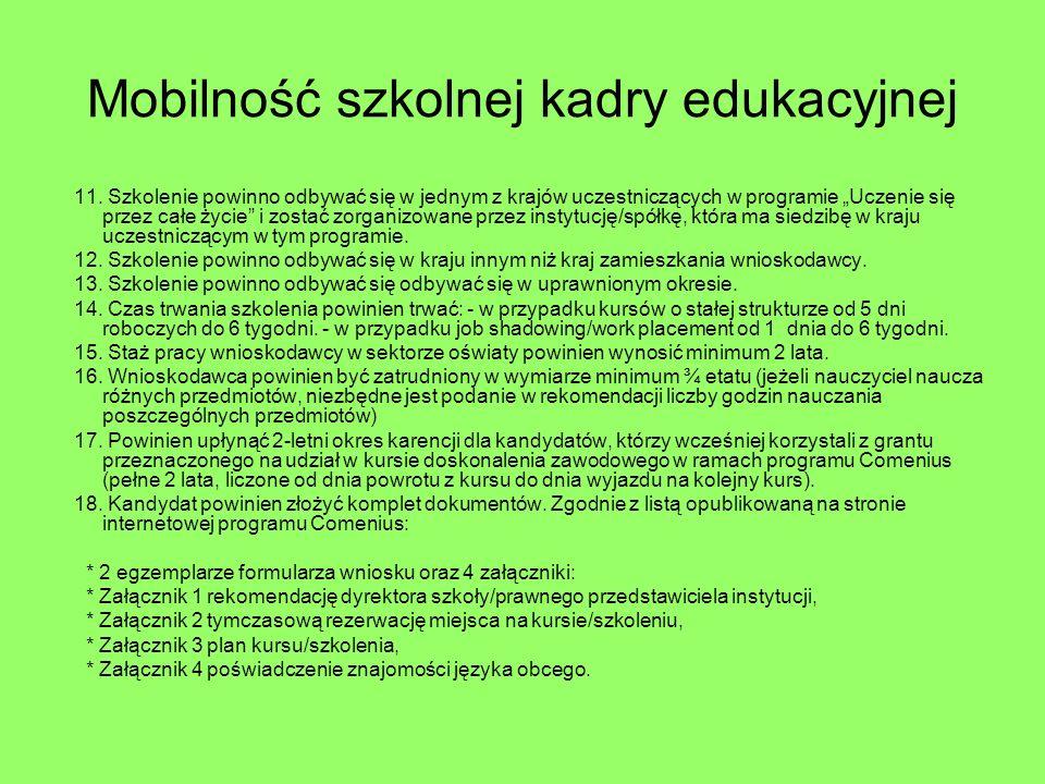 Mobilność szkolnej kadry edukacyjnej 11.