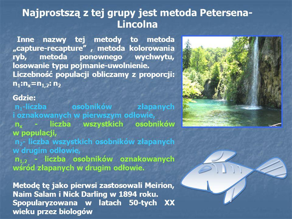 Inne nazwy tej metody to metoda capture-recapture, metoda kolorowania ryb, metoda ponownego wychwytu, losowanie typu pojmanie-uwolnienie. Liczebność p
