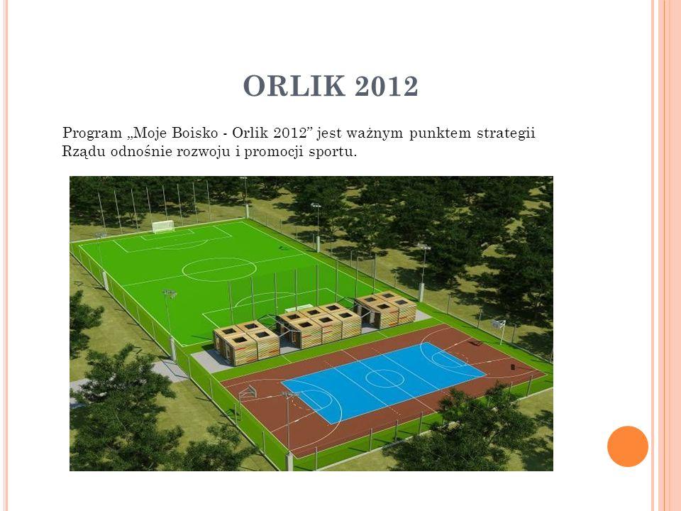 ORLIK 2012 Program Moje Boisko - Orlik 2012 jest ważnym punktem strategii Rządu odnośnie rozwoju i promocji sportu.