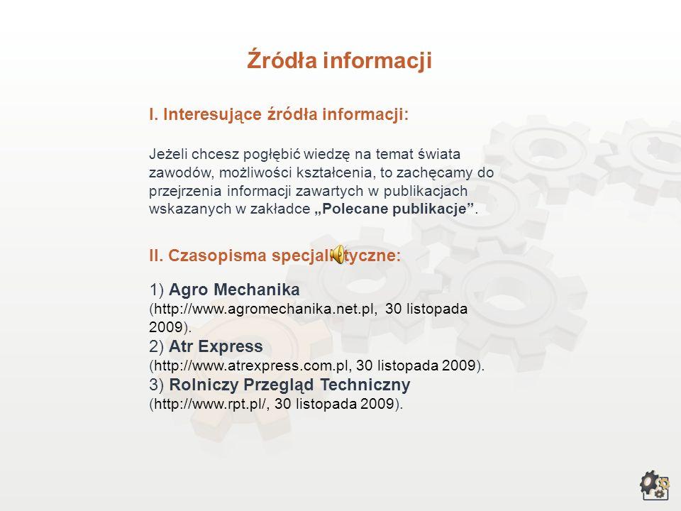 Źródła informacji I.