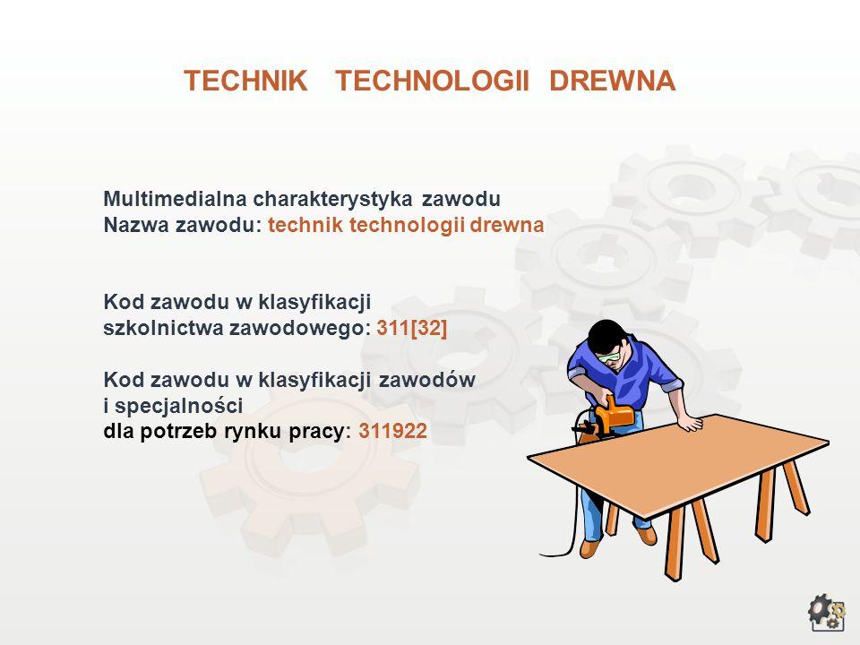 TECHNIK TECHNOLOGII DREWNA wersja dla gimnazjów i szkół ponadgimnazjalnych