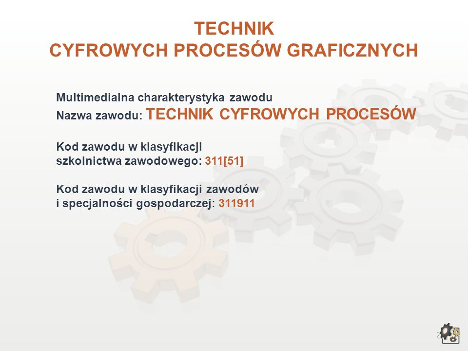 TECHNIK CYFROWYCH PROCESÓW GRAFICZNYCH wersja dla gimnazjum i szkół ponadgimnazjalnych