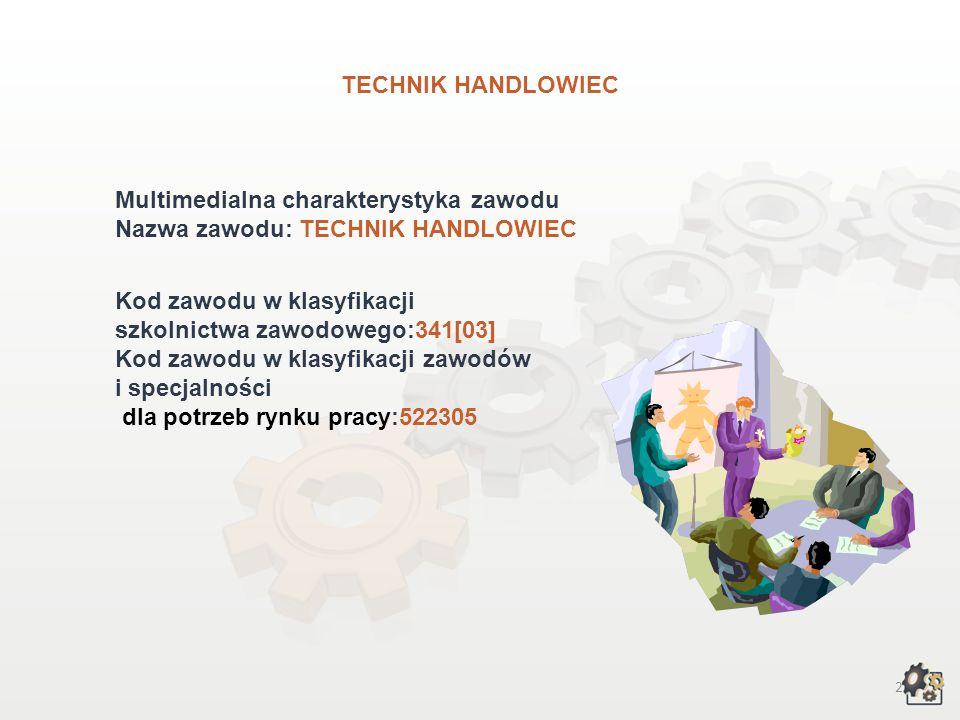 TECHNIK HANDLOWIEC wersja dla gimnazjum i szkół ponadgimnazjalnych