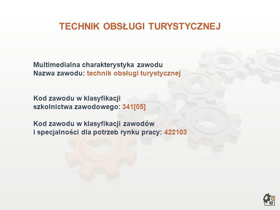 TECHNIK OBSŁUGI TURYSTYCZNEJ wersja dla gimnazjum i szkół ponadgimnazjalnych