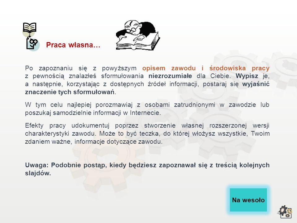 14 Przeciwwskazania zdrowotne Decydując się na podjęcie pracy w zawodzie zduna, powinniśmy także wziąć pod uwagę przeciwwskazania zdrowotne.