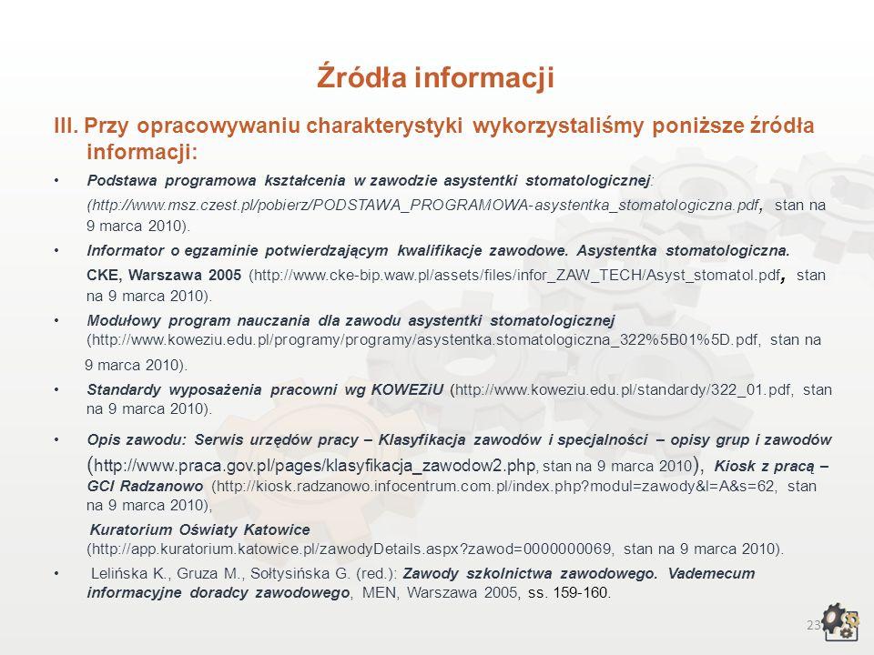 22 Źródła informacji I.