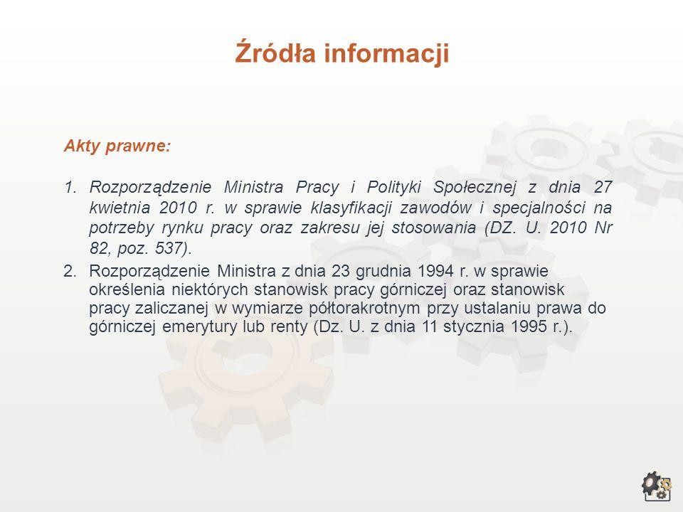 Źródła informacji III. Przy opracowywaniu charakterystyki wykorzystaliśmy poniższe źródła informacji: 1.Lelińska K., Gruza M., Sołtysińska G. (red.):