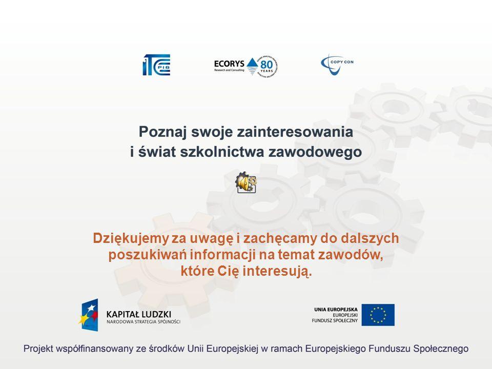 Źródła informacji Akty prawne: 1.Rozporządzenie Ministra Pracy i Polityki Społecznej z dnia 27 kwietnia 2010 r. w sprawie klasyfikacji zawodów i specj