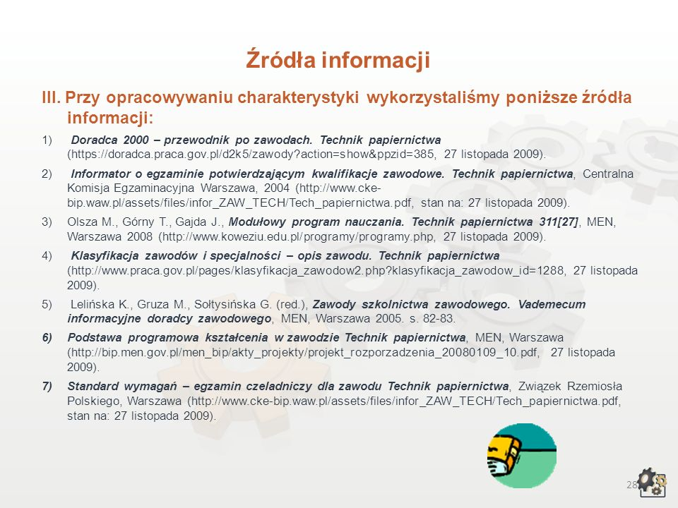 27 Źródła informacji I.
