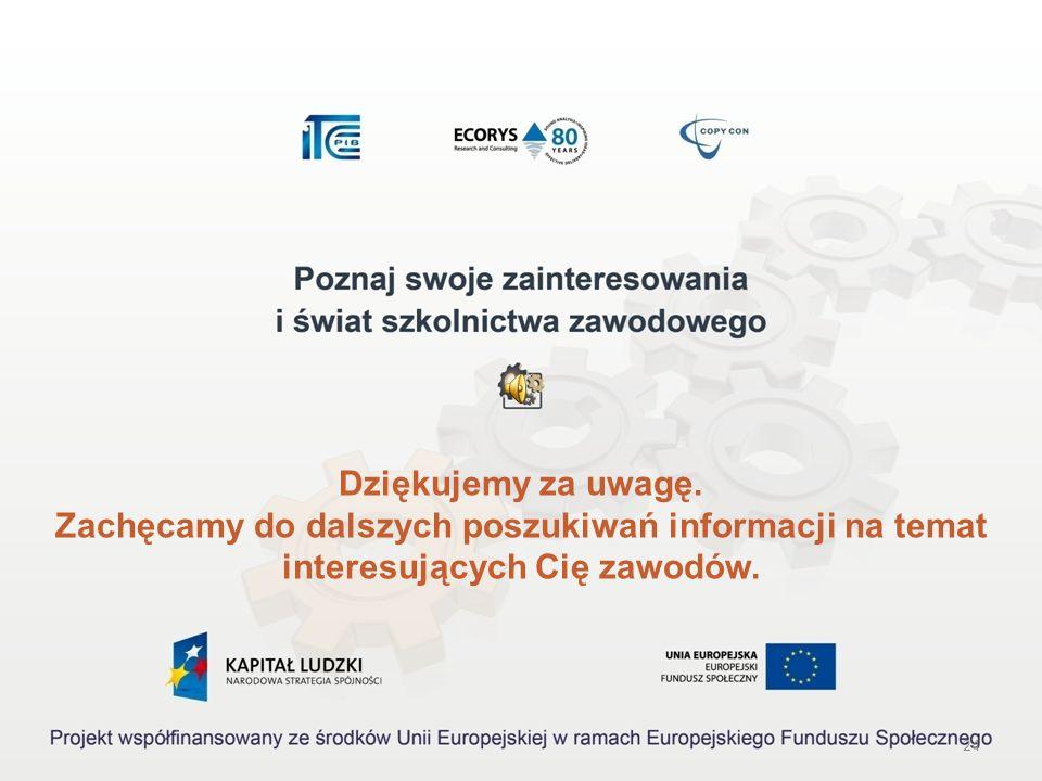 23 Akty prawne: 1.Rozporządzenie Ministra Pracy i Polityki Społecznej z dnia 27 kwietnia 2010 r. w sprawie klasyfikacji zawodów i specjalności na pot
