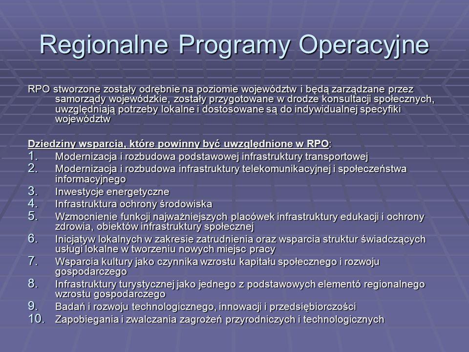 Regionalne Programy Operacyjne RPO stworzone zostały odrębnie na poziomie województw i będą zarządzane przez samorządy wojewódzkie, zostały przygotowa