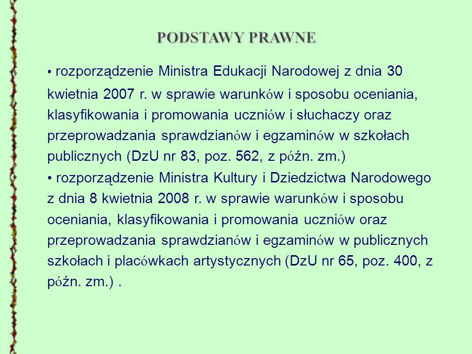 rozporządzenie Ministra Edukacji Narodowej z dnia 18 stycznia 2005 r.
