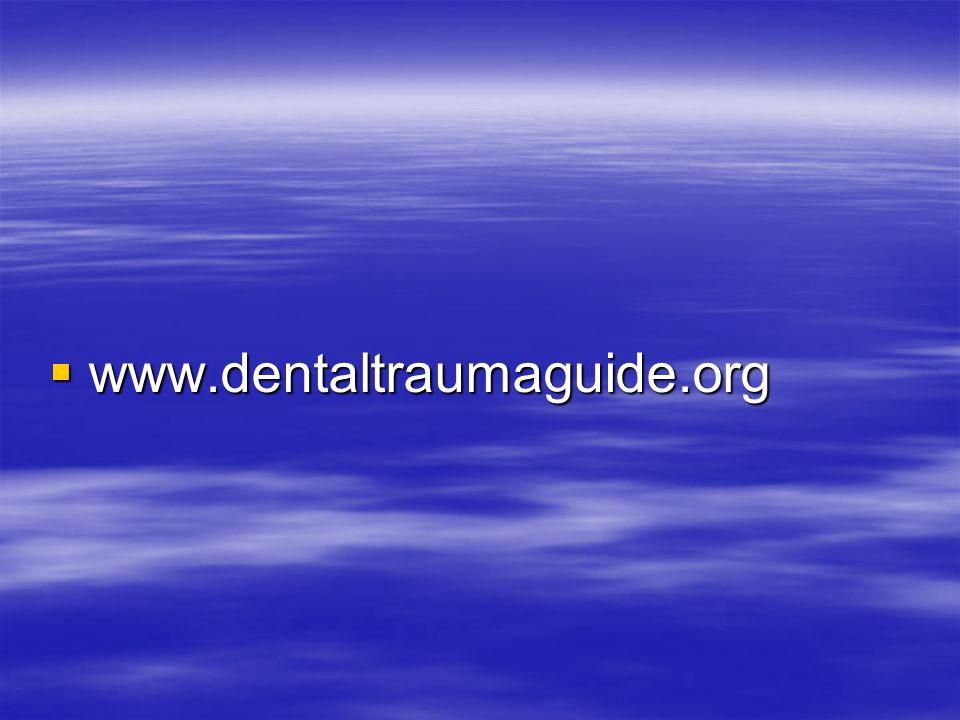 www.dentaltraumaguide.org www.dentaltraumaguide.org