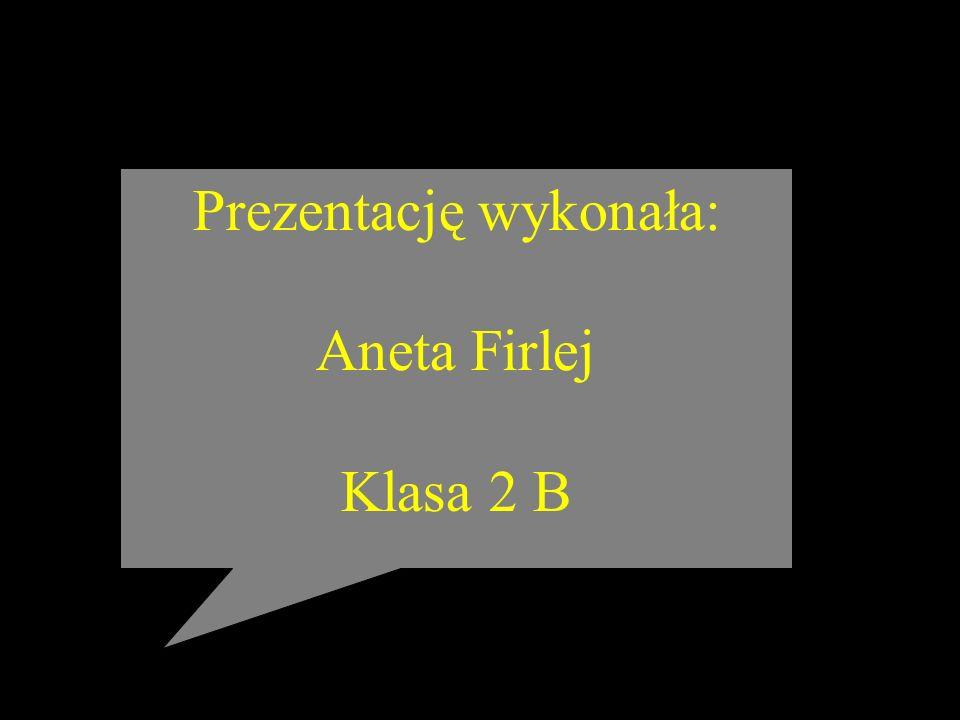 Prezentację wykonała: Aneta Firlej Klasa 2 B