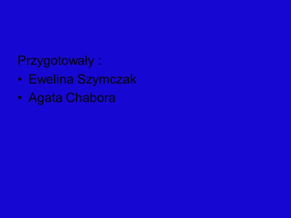 Przygotowały : Ewelina Szymczak Agata Chabora