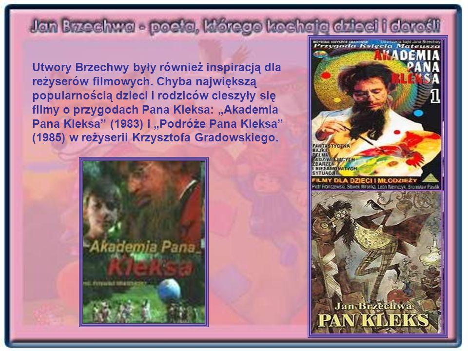 Utwory Brzechwy były również inspiracją dla reżyserów filmowych. Chyba największą popularnością dzieci i rodziców cieszyły się filmy o przygodach Pana